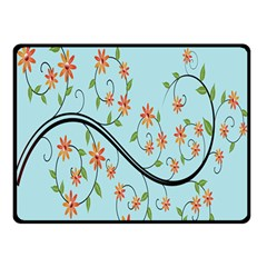 Branch Floral Flourish Flower Double Sided Fleece Blanket (small)  by Nexatart