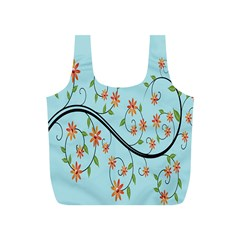 Branch Floral Flourish Flower Full Print Recycle Bags (s)  by Nexatart