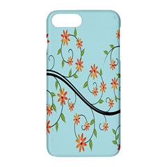 Branch Floral Flourish Flower Apple Iphone 7 Plus Hardshell Case by Nexatart
