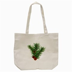 Branch Floral Green Nature Pine Tote Bag (cream) by Nexatart
