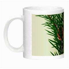 Branch Floral Green Nature Pine Night Luminous Mugs by Nexatart