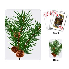 Branch Floral Green Nature Pine Playing Card by Nexatart