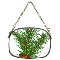 Branch Floral Green Nature Pine Chain Purses (two Sides)  by Nexatart