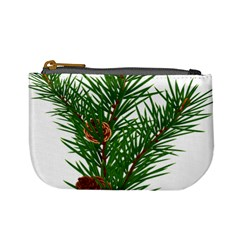 Branch Floral Green Nature Pine Mini Coin Purses by Nexatart