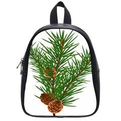 Branch Floral Green Nature Pine School Bags (small)  by Nexatart
