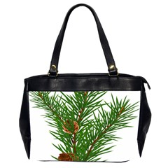 Branch Floral Green Nature Pine Office Handbags (2 Sides)  by Nexatart