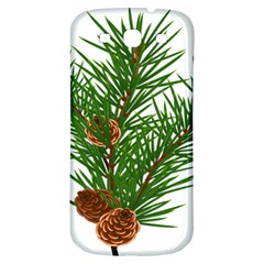 Branch Floral Green Nature Pine Samsung Galaxy S3 S Iii Classic Hardshell Back Case by Nexatart