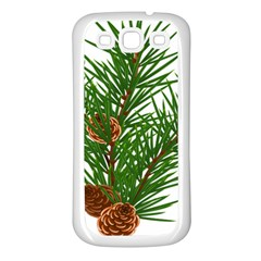 Branch Floral Green Nature Pine Samsung Galaxy S3 Back Case (white) by Nexatart