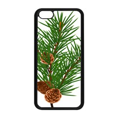 Branch Floral Green Nature Pine Apple Iphone 5c Seamless Case (black) by Nexatart