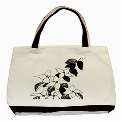 Ecological Floral Flowers Leaf Basic Tote Bag by Nexatart