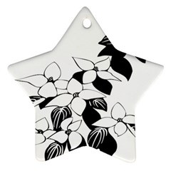 Ecological Floral Flowers Leaf Star Ornament (two Sides) by Nexatart