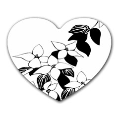 Ecological Floral Flowers Leaf Heart Mousepads by Nexatart