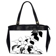 Ecological Floral Flowers Leaf Office Handbags (2 Sides)  by Nexatart