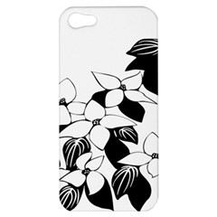 Ecological Floral Flowers Leaf Apple Iphone 5 Hardshell Case by Nexatart