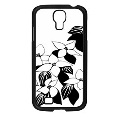 Ecological Floral Flowers Leaf Samsung Galaxy S4 I9500/ I9505 Case (black) by Nexatart