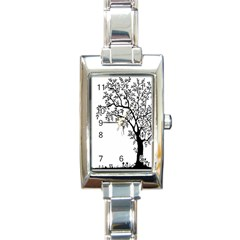 Flowers Landscape Nature Plant Rectangle Italian Charm Watch by Nexatart