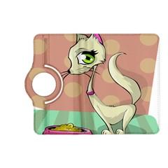 Cat Food Eating Breakfast Gourmet Kindle Fire Hd (2013) Flip 360 Case by Nexatart