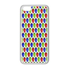 Colorful Shiny Eat Edible Food Apple Iphone 5c Seamless Case (white) by Nexatart