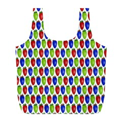 Colorful Shiny Eat Edible Food Full Print Recycle Bags (l)  by Nexatart