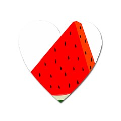 Fruit Harvest Slice Summer Heart Magnet by Nexatart