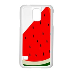 Fruit Harvest Slice Summer Samsung Galaxy S5 Case (white) by Nexatart