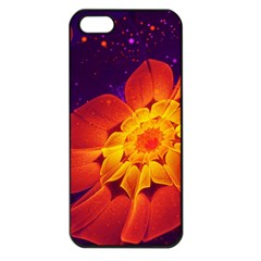Royal Blue, Red, And Yellow Fractal Gerbera Daisy Apple Iphone 5 Seamless Case (black) by beautifulfractals