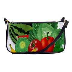 Fruits Vegetables Artichoke Banana Shoulder Clutch Bags by Nexatart
