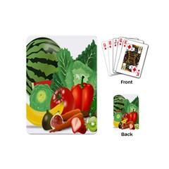 Fruits Vegetables Artichoke Banana Playing Cards (mini)  by Nexatart