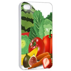 Fruits Vegetables Artichoke Banana Apple Iphone 4/4s Seamless Case (white) by Nexatart