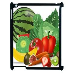 Fruits Vegetables Artichoke Banana Apple Ipad 2 Case (black) by Nexatart