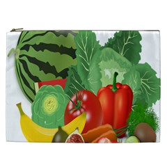 Fruits Vegetables Artichoke Banana Cosmetic Bag (xxl)  by Nexatart