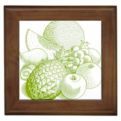 Fruits Vintage Food Healthy Retro Framed Tiles by Nexatart