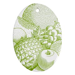 Fruits Vintage Food Healthy Retro Ornament (oval) by Nexatart