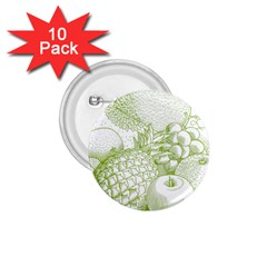 Fruits Vintage Food Healthy Retro 1 75  Buttons (10 Pack) by Nexatart