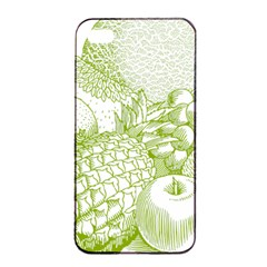 Fruits Vintage Food Healthy Retro Apple Iphone 4/4s Seamless Case (black) by Nexatart