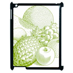 Fruits Vintage Food Healthy Retro Apple Ipad 2 Case (black) by Nexatart