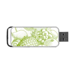 Fruits Vintage Food Healthy Retro Portable Usb Flash (two Sides) by Nexatart