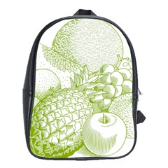 Fruits Vintage Food Healthy Retro School Bags (xl)  by Nexatart