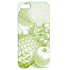 Fruits Vintage Food Healthy Retro Apple Iphone 5 Hardshell Case With Stand by Nexatart