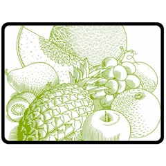 Fruits Vintage Food Healthy Retro Double Sided Fleece Blanket (large)  by Nexatart