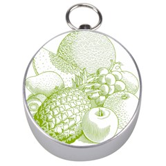 Fruits Vintage Food Healthy Retro Silver Compasses by Nexatart