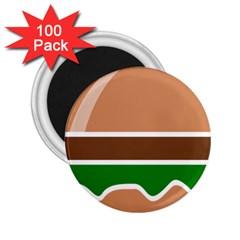 Hamburger Fast Food A Sandwich 2 25  Magnets (100 Pack)  by Nexatart