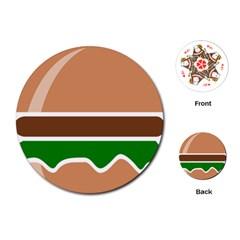 Hamburger Fast Food A Sandwich Playing Cards (round)  by Nexatart