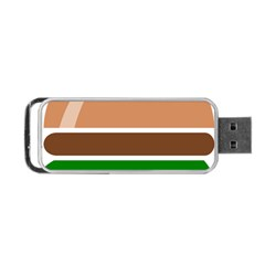 Hamburger Fast Food A Sandwich Portable Usb Flash (two Sides) by Nexatart