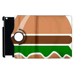 Hamburger Fast Food A Sandwich Apple Ipad 2 Flip 360 Case by Nexatart