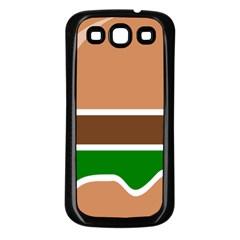 Hamburger Fast Food A Sandwich Samsung Galaxy S3 Back Case (black) by Nexatart