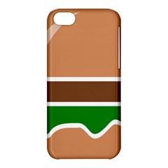 Hamburger Fast Food A Sandwich Apple Iphone 5c Hardshell Case by Nexatart