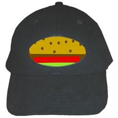 Hamburger Food Fast Food Burger Black Cap by Nexatart