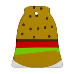 Hamburger Food Fast Food Burger Ornament (bell)