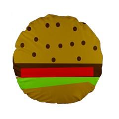 Hamburger Food Fast Food Burger Standard 15  Premium Round Cushions by Nexatart